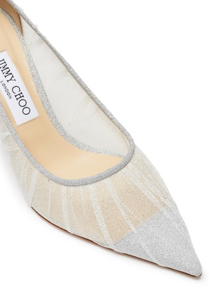 Detail View - Click To Enlarge - JIMMY CHOO - Love 85' glitter tulle pumps