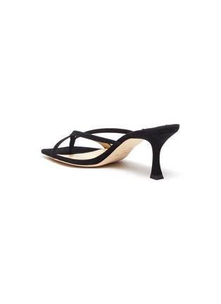 - JIMMY CHOO - 'Maelie' Thin Strap Suede Curved Heel Sandals