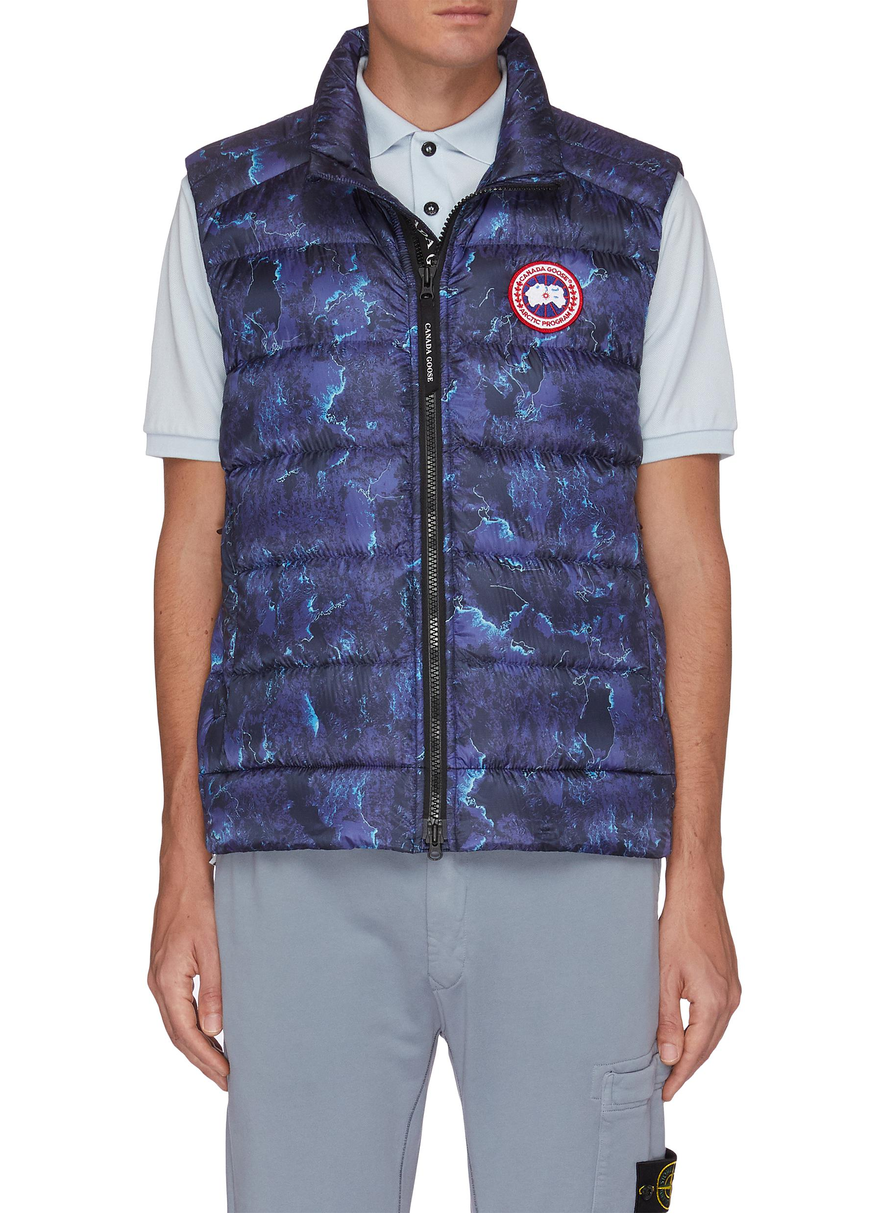 Canada Goose 'CROFTON' PACKABLE ALL-OVER GRAPHIC PRINT DOWN VEST