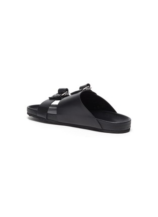 - PIERRE HARDY - Double strap leather beach sandals