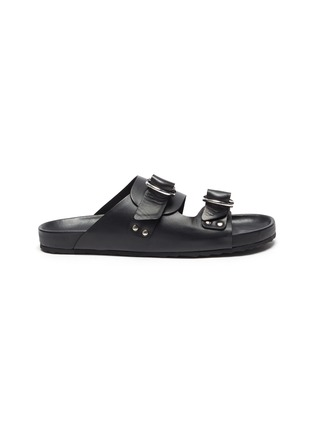 Main View - Click To Enlarge - PIERRE HARDY - Double strap leather beach sandals