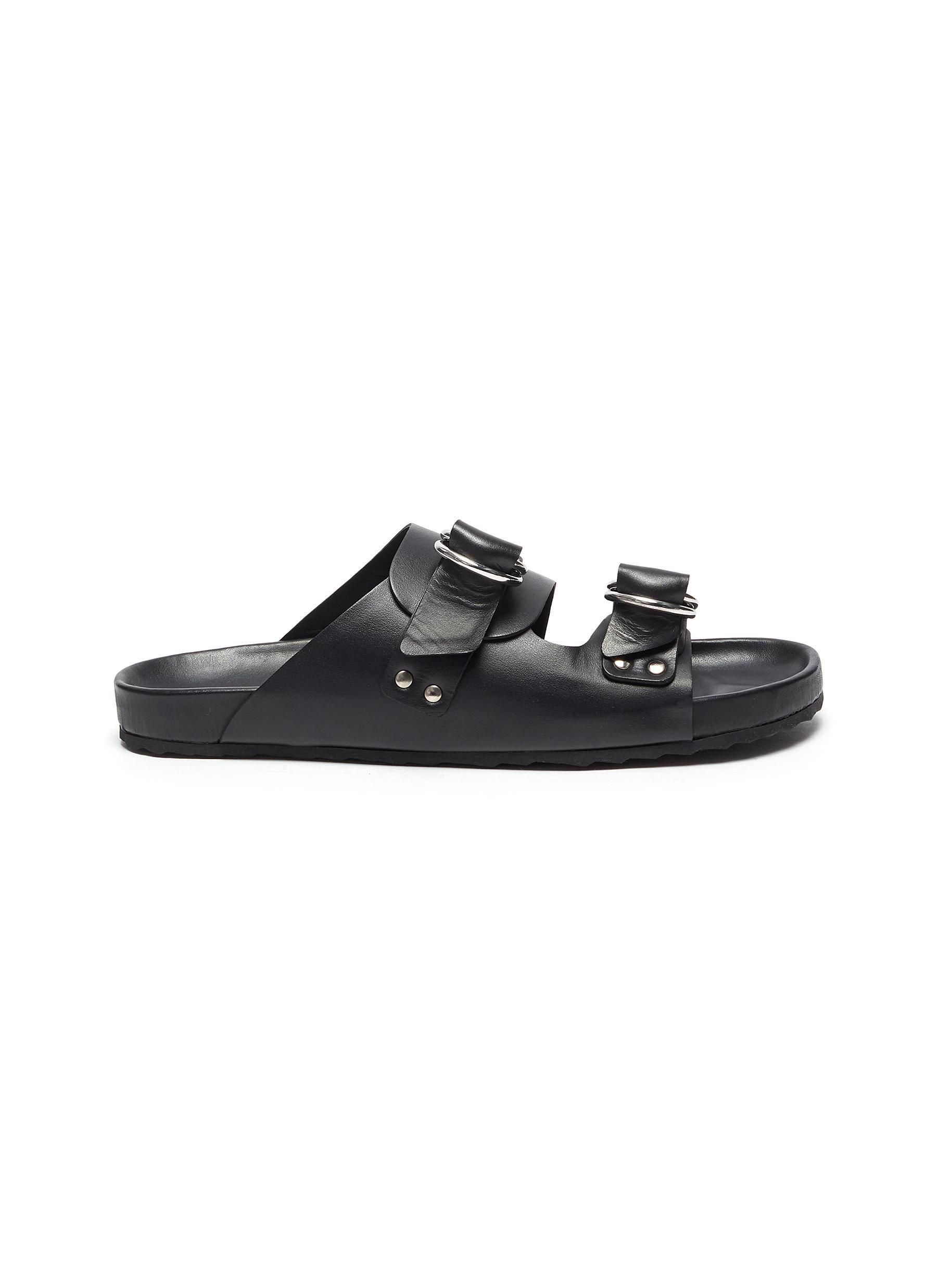 Double strap leather beach sandals - PIERRE HARDY - Modalova