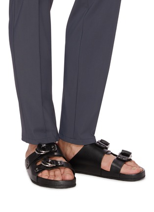 Figure View - Click To Enlarge - PIERRE HARDY - Double strap leather beach sandals