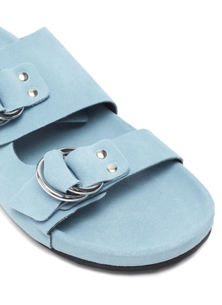 Detail View - Click To Enlarge - PIERRE HARDY - Double strap suede beach sandals