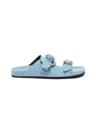 Main View - Click To Enlarge - PIERRE HARDY - Double strap suede beach sandals