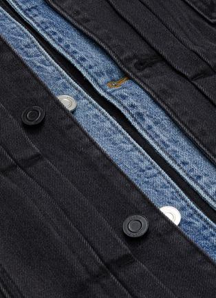 - JUUN.J - Layered Collar Denim Trucker Jacket