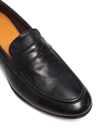 Detail View - Click To Enlarge - ROLANDO STURLINI - 'MATCH CERVO' Leather Penny Loafers