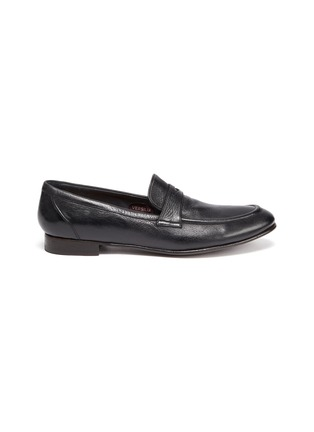 Main View - Click To Enlarge - ROLANDO STURLINI - 'MATCH CERVO' Leather Penny Loafers