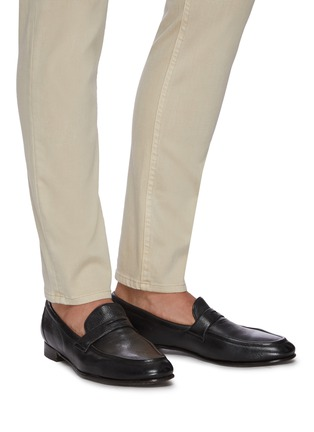Figure View - Click To Enlarge - ROLANDO STURLINI - 'MATCH CERVO' Leather Penny Loafers