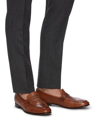Figure View - Click To Enlarge - ROLANDO STURLINI - 'Match Cervo' penny loafers