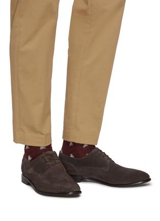 Figure View - Click To Enlarge - ROLANDO STURLINI - 'Match Suede' derby shoes