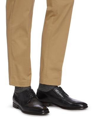 Figure View - Click To Enlarge - ROLANDO STURLINI - 'Badge Buffalo' derby shoes