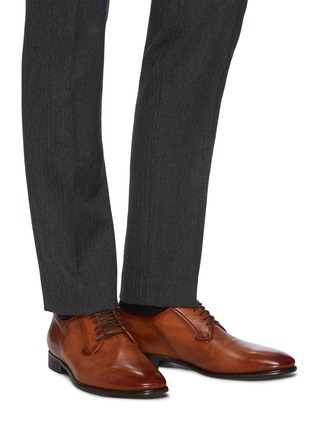 Figure View - Click To Enlarge - ROLANDO STURLINI - 'BADGE BUFFALO' Suede Derby Shoes