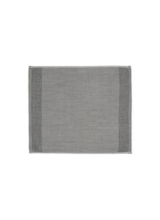 Main View - Click To Enlarge - UCHINO - Zen Charcoal Gauze & Pile Wash Cloth – Dark Grey