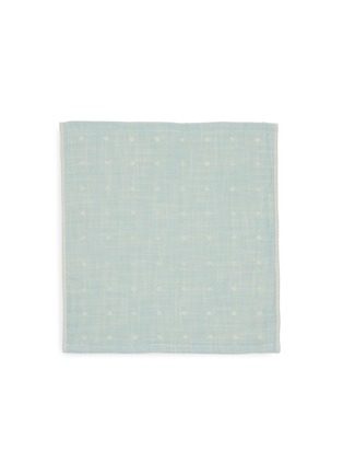 Main View - Click To Enlarge - UCHINO - Grass-stained OG Gauze Wash Cloth – Green