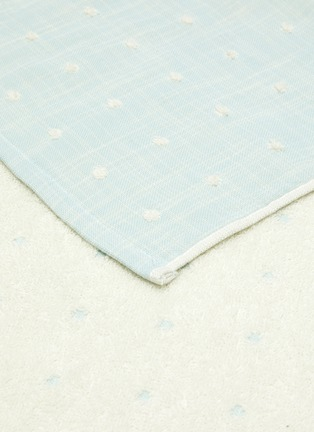 Detail View - Click To Enlarge - UCHINO - Grass-stained OG Gauze Hand Towel – Blue