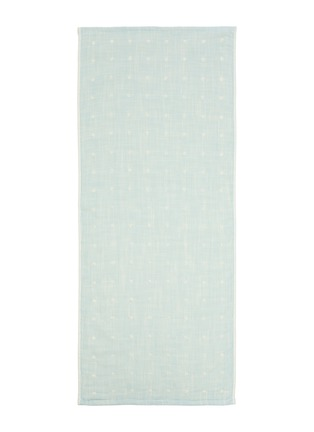 Main View - Click To Enlarge - UCHINO - Grass-stained OG Gauze Hand Towel – Blue
