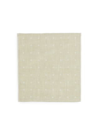 Main View - Click To Enlarge - UCHINO - Grass-stained OG Gauze Wash Cloth – Beige
