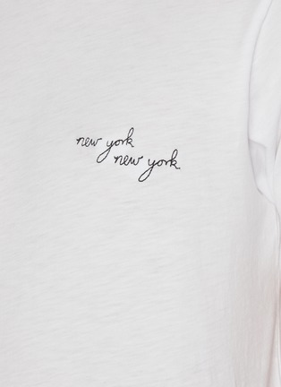 - RAG & BONE - New York Embroidered Jersey T-shirt