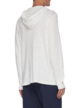 Back View - Click To Enlarge - RAG & BONE - Flame cotton hoodie