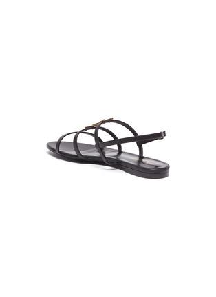 - SAINT LAURENT - 'Cassandra' logo plaque leather sandals