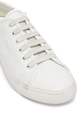 Detail View - Click To Enlarge - SAINT LAURENT - 'Malibu' logo print sole leather sneakers
