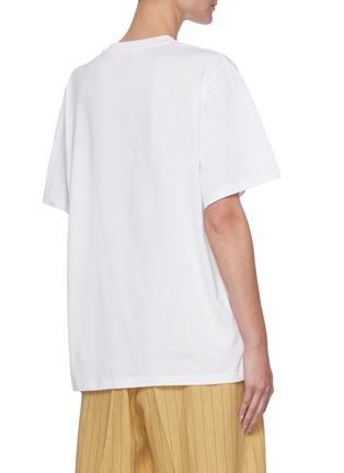 Back View - Click To Enlarge - STELLA MCCARTNEY - x Yoshitomo Nara Address Logo Print Cotton T-shirt
