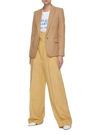 Figure View - Click To Enlarge - STELLA MCCARTNEY - x Yoshitomo Nara Address Logo Print Cotton T-shirt