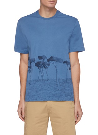 Main View - Click To Enlarge - BRIONI - Tree Print Cotton T-shirt