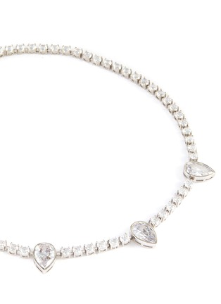 Detail View - Click To Enlarge - CZ BY KENNETH JAY LANE - Pear cubic zirconia tennis necklace