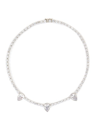 Main View - Click To Enlarge - CZ BY KENNETH JAY LANE - Pear cubic zirconia tennis necklace
