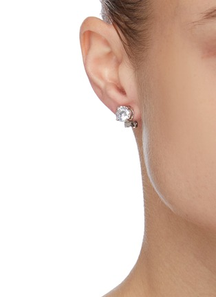 Figure View - Click To Enlarge - CZ BY KENNETH JAY LANE - Brilliant cubic zirconia stud earrings
