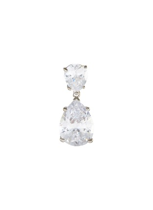 Main View - Click To Enlarge - CZ BY KENNETH JAY LANE - Double pear cut cubic zirconia drop earrings