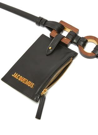 Detail View - Click To Enlarge - JACQUEMUS - 'La Ceinture Ano' pouch leather belt