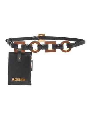 Main View - Click To Enlarge - JACQUEMUS - 'La Ceinture Ano' pouch leather belt