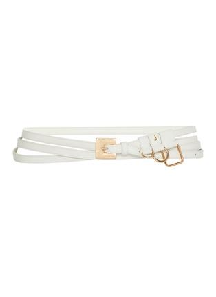 Main View - Click To Enlarge - JACQUEMUS - 'La Ceinture Moisson' charm leather belt