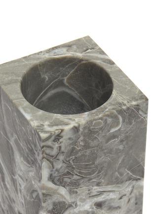 Detail View - Click To Enlarge - LANE CRAWFORD - Rectangular marble tumbler – Flower Grey