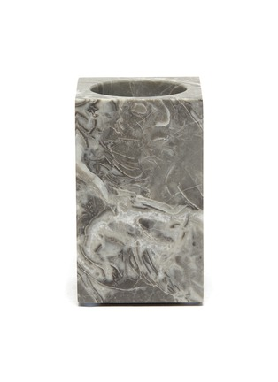 Main View - Click To Enlarge - LANE CRAWFORD - Rectangular marble tumbler – Flower Grey