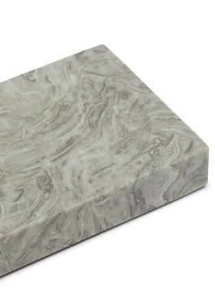 Detail View - Click To Enlarge - LANE CRAWFORD - Grey Flower Marble Soap Dish