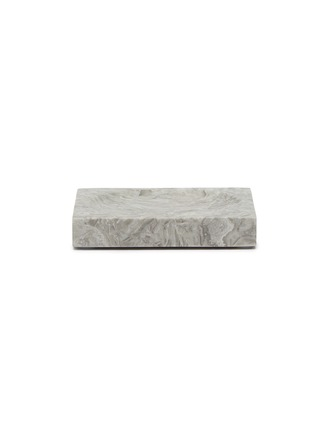 Main View - Click To Enlarge - LANE CRAWFORD - Grey Flower Marble Soap Dish