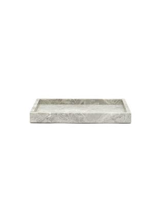 Main View - Click To Enlarge - LANE CRAWFORD - Marble vanity tray – Flower Grey