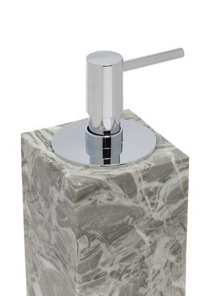 Detail View - Click To Enlarge - LANE CRAWFORD - Rectangular marble soap dispenser – Flower Grey