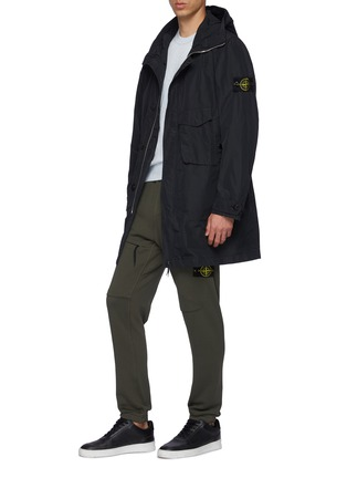 Figure View - Click To Enlarge - STONE ISLAND - Patch Pocket Hooded Parka