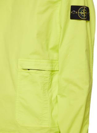 - STONE ISLAND - Zipped pocket cotton twill sweatshirt