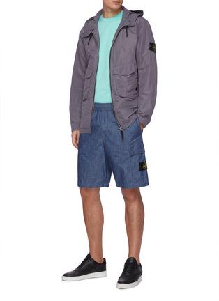 Figure View - Click To Enlarge - STONE ISLAND - Heavy cotton jersey sweatshirt