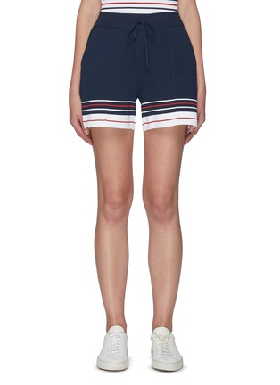 Main View - Click To Enlarge - THOM BROWNE - Double cricket stripe shorts