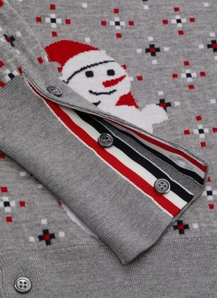 - THOM BROWNE - Patterned snowman wool sweater
