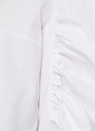 - ALEXANDER MCQUEEN - Gathered Balloon Sleeve Point Collar Shirt