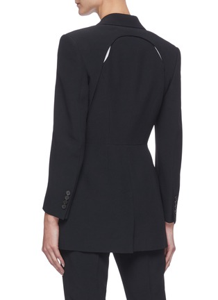 Back View - Click To Enlarge - ALEXANDER MCQUEEN - Cut-out Detail Single-breast Blazer