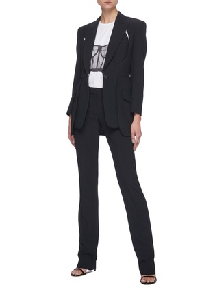 Figure View - Click To Enlarge - ALEXANDER MCQUEEN - Cut-out Detail Single-breast Blazer